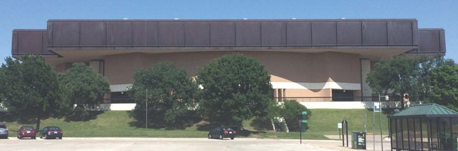 Existing UNT Coliseum roof