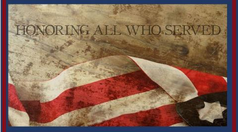 Honoring All Those Who Served - American Flag