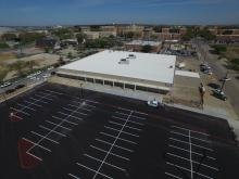 Support and Services Building aerial view