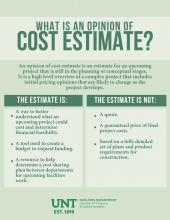 What is an opinion of cost estimate?